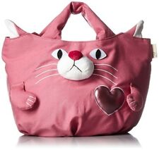 ROOTOTE Tote Bag Cat Animal DELI Shopping Purse Cute Pink/Grey/Purple from Japan