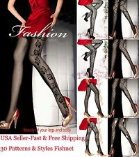 Super Sexy Cute Fashion Ladies Unique Pattern Fish Net Pantyhose-Multiple Styles