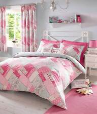 Kirstie Allsopp HETTY Pink Patchwork Duvet Set or Cushion or Curtains