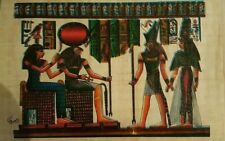 "EGYPTIAN hand painted Papyrus Paper 7.60""x 11.25"""