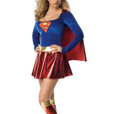 New Supergirl Costume Adult Superwoman Superhero Super Girl Fancy Dress Sexy