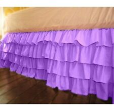 """Home Fashion Ruffle Bed Skirt Lavender Solid Drop 8 To 20"""" Egyptian Cotton"""
