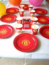Manchester United Party Plates Paper Cups Birthday Cake Candles Party Decoration