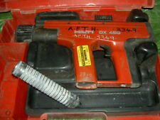 hilti dx450 nail gun with carry case x hire spares or repairs only 3349