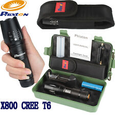 5000LM ZOOMable XML T6 LED 18650/26650/AAA Flashlight Torch+Charger+Battery+Case