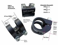 28mm . 30mm . 32mm Chassis Clamps .  Racing Go Kart . Go Cart OTK CRG Kosmic DR