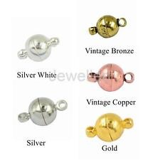 10 Sets Silver/Gold Plated Round Strong Magnetic Clasps Hooks Jewelry Findings
