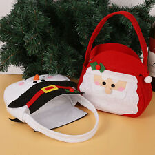 Christmas Santa Claus/Snowman Xmas Candy Gift Present Cloth Hand Bag Decoration