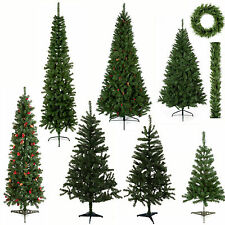 5ft - 6ft - 6.5ft Artificial Christmas Tree Plain or Berries & Cones