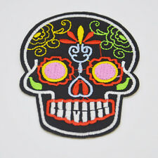 New punk skull pattern embroidered iron on patch embroidered applique DIY Motif