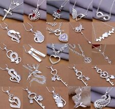 Special Price wholesale fashion jewelry 925Silver Chain Necklace+gift box