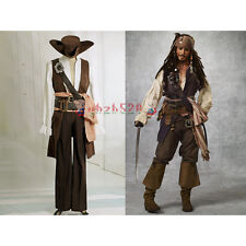 PIRATES OF THE CARIBBEAN CAPTAIN Sparrow REPLICA  Cosplay Halloween Costume Suit
