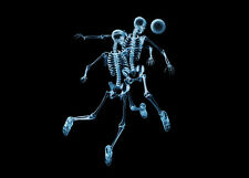 skeleton canvas poster x-ray football print giclee 8X12&12X17