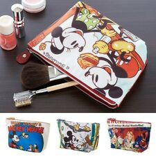 DISNEY Mickey Minnie Alice Cosmetic Bag Mekeup Pouch Purse Case from Japan E2054