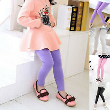 Cute Girls Spring Summer Fashion Children Age 4-13 Leggings Candy Color Pants