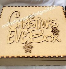2 x Christmas Eve Box With Topper  Personalised With Names 300x300x100 Mm Mdf