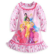 NWT Disney Store Disney Princess Nightgown Nightshirt Long Sleeve for Girls NEW