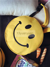 Kid Round Backpack Book School Bag Smiley Girl Rucksack Schoolbag Day Pack