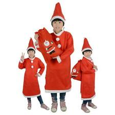 New Toddler Children's Christmas Santa Claus Costume Dress with Hat Outfit Set