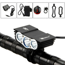 Rechargeable 10000LM 3*CREE XML T6 Bike Light Bicycle Lamp Headlight Head Torch