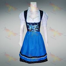 DIRNDL DRESS 3-Piece Oktoberfest Bavarian Trachten German Austrian Waitress Maid