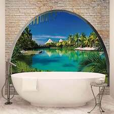 WALL MURAL PHOTO WALLPAPER XXL Beach Tropical Island Window View (2841WS)