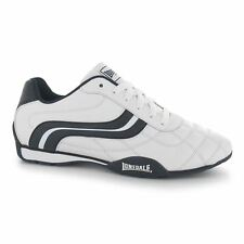 Lonsdale Mens Camden Trainers White/Navy New in Box