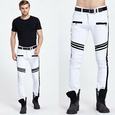 Mens Jeans Slim Fit Straight Skinny Fit Denim Trousers Casual Pants Sports Harem