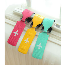 Korean Pvc Strip Travel Luggage Tags Baggage Suitcase Bag Labels Name Address