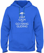 Men's Keep Calm And Go Hang Gliding Hoodie Paraglide Glider Sweatshirt FREE S&H!