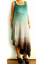 NEW T**PARTY MAXI KNIT DRESS S 4 8 $120 WOMEN TUNIC MADE IN USA BLUE GREY BROWN