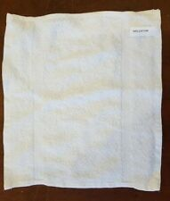 NEW 100% COTTON PLAIN FACE TOWEL- WHITE COLOUR ONLY SIZE 30 x 30 CM APPROX SELL