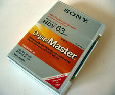 1x used SONY Pro HDV 63 min HDV DV DVCAM Video Tape PHDVM-63DM Mini Cassette