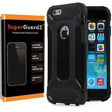 Hybrid Cover Case Armor + Tempered Glass Screen Protector For iPhone 7 & Plus