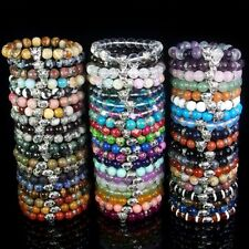 10mm Natural Gemstone Beads Tiger Stretchy Reiki Chakra Energy Stone Bracelet
