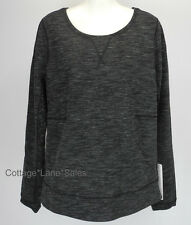 NEW LULULEMON Exhalation Pullover LS Top 4 6 Heathered Marled Black FREE SHIP