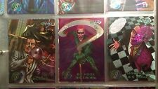 DC COMICS 1995 FLEER METAL BATMAN FOREVER SET W/SILVER FLASHER CARDS, AND INSERT