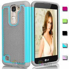 Protective Rugged Hybrid Rubber Hard Case Cover for LG K8 / Phoenix 2 / Escape 3
