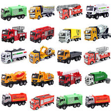 Recovery Vehicles Dumper Concrete Mixer Truck Metal Car Toy Pull-Back Friction