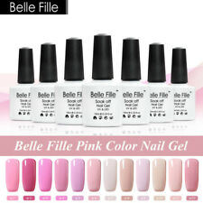 BELLE FILLE Pink Series Nail Art Gel Polish Varnish Soak-off UV LED DIY 10ml