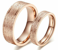 Couple Set Rings Wedding Band Dull Polish Titanium Love Gift Free Engraving ring