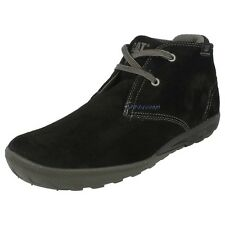 MENS CATERPILLAR BLACK SUEDE MID CUT BOOT STYLE - CRUMP MID WIDE FIT