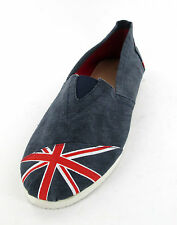 MENS NAVY UNION JACK CANVAS SLIP ON SHOE STYLE - A1081