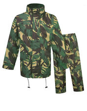 Mens Fortress Hooded Jacket & Trousers Set Water Resistant Windproof Camouflage