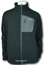 New Columbia mens Fleece Falls full zip fleece jacket Black M L XL