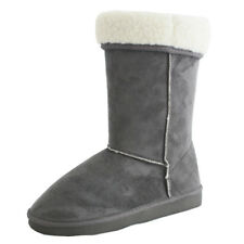Coolers Womens Boot Slippers Grey