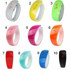 Rubber Candy Colors Sport LED Wristwatch Bracelet Waterproof Digital Wrist Watch