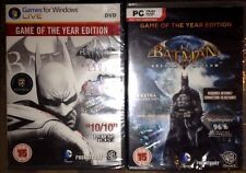 Game of the Year Editions Batman arkham Asylum & arkham city Lot PC new & sealed