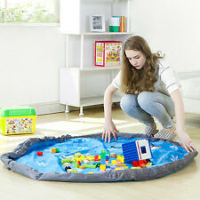 Portable Kids Children Infant Baby Play Mat Large Storage Bag Toys Organizer Rug