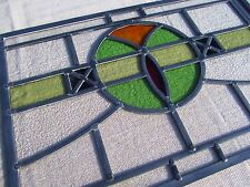 SET of 5 FULLY RESTORED cc1936 STAINED GLASS WINDOW PANELS Patterned Swag